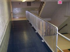 Fabricated walkway railings