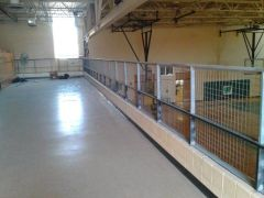 Custom school gymnasium railing