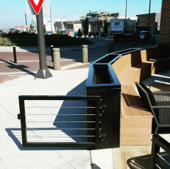 Custom fabricated planter boxes in Cleveland