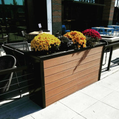 Custom planter boxes down in the Flats!