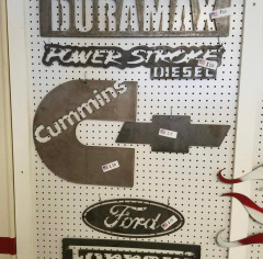 Come in any time and check out our metal sign wall!