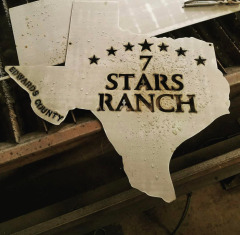Custom steel sign plasma cut for some friends in Texas with their logo!