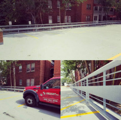 We installed this heavy duty galvanized guard rail in Lakewood, OH