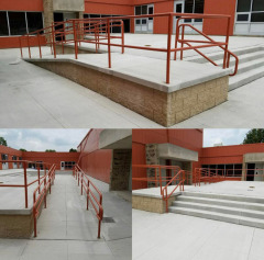 Our guys did a great job fabricating and installing this handrail for Hudson City Schools!
