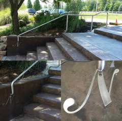 Decorative stainless steel hand rail